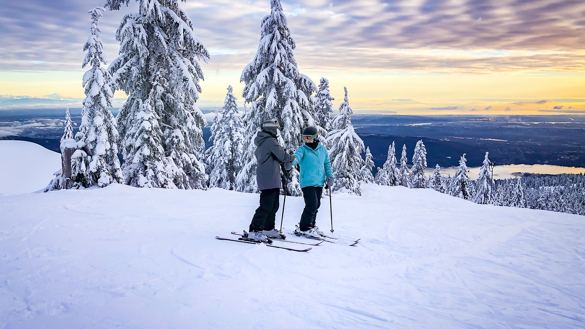 Couple on a ski vacation